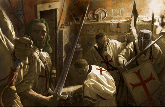 Templars grabing Holy Grail