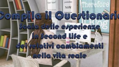 Scala delle esperienze in SL e dei relativi cambiamenti nella vita reale